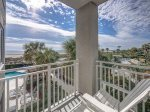 Private Balcony off Master Bedroom offers Ocean Views at 3201 Sea Crest