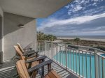 Second Floor Balcony Offers Pool and Ocean Views at 3201 SeaCrest