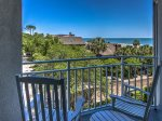 Private Balcony off the Second Guest Bedroom at 2315 Sea Crest