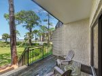 Private Balcony off Master Bedroom with Direct Walkout to the Beach and Pool at 1848 Beachside Tennis