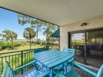 Balcony with Views of the Calibogue Sound at 1848 Beachside Tennis