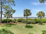 Balcony with Views of the Calibogue Sound and Pool at 1848 Beachside Tennis