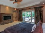 Master Bedroom 3 Marsh Island Road has access to the large deck and pool area