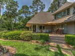 3 Marsh Island Road in Sea Pines has a small lawn in the back of the home