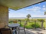 Living Area with Calibogue Sound Views at 1884 Beachside Tennis