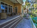 Spacious Deck at 3 Hunt Club in Palmetto Dunes