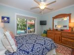 Queen Guest Room with View of Pool at 8 Deer Run Lane