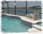 Pool and Spa/Hot Tub with lakeview