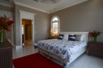 Master bathroom with double vanity and make up mirror