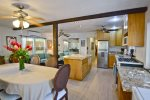 Fully equipped kitchen with large island, great for entertaining
