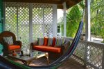 Deck with hammocks and comfy sofa`s