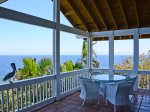Expansive ocean views from the covered porch