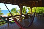 Great views from your hammock. Large curtains can shade the deck from any unwanted sun.