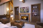 Another gas fireplace is located in the family room for cozy movie nights