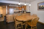 Open kitchen and dining area for entertaining