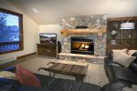Spacious Living Room With Gas Fireplace and Fantastic Views