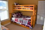 Bunk room with twin over full bunk bed