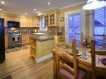 Great Kitchen is Open to the Dining Room