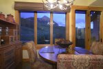 Enjoy mountain views during dinner or game night.