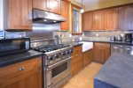 Viking Gas Range and Large Farm Sink make Cooking a Breeze