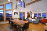 Main Living Area with Incredible Views and Vaulted Ceilings