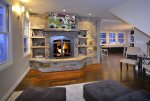 Cozy up to the Gas Fireplace or Watch the Big Game