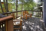 Large upper deck with views of Mt. Crested Butte.