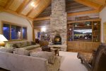 Cozy Up Around the Wood Burning Fireplace and Watch a Movie