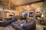 Gas Fireplace and Open Floor Plan