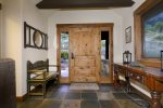 A lovely and spacious entryway makes you feel right at home