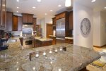 Gourmet kitchen with plenty of counter space