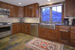 Chef`s Kitchen with Views of Mt. Crested Butte