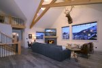 Living Room with Gas Fireplace and Great Views