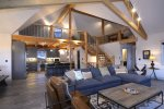 Great Room with Custom Beams