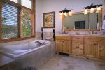 Jetted Tub with Great Views in Master Bath