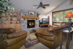 Fantastic Living Space with Gas Fireplace and Vaulted Ceilings