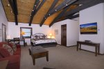 Master Bedroom with King Bed and Vaulted Ceilings