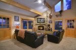 Family Room with Large Flat Panel TV