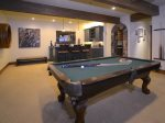 Play a game of pool in the Family Room