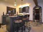 Wet Bar with Ice Maker and Wine Fridge - Check Out The Wine Cave