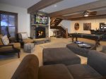 Enjoy a Movie in the Large Family Room