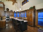 Fully Stocked Gourmet Kitchen with Bar Seating