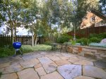 Patio with Great Trees, Landscaping, Bistro Set and Charcoal Grill