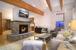 Cozy up to the Gas Fireplace or Catch a Movie