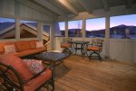 Seasonal Grilling Porch with outdoor seating