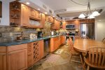 Fine cabinet details and stainless steel appliances