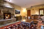 Downstairs Family Room with Gas Fireplace, Surround Sound, and Access to Hot Tub