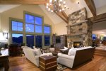 Grand Living Room with Gas Fireplace and Views Forever