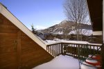 Winter views from the master bedroom deck look at Mt. Crested Butte