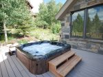 Large Hot Tub Located Outside The Great Room